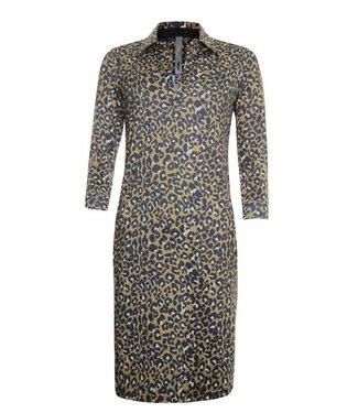 Poools Dress printed bruin 913151