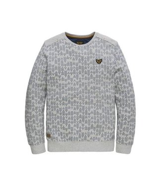 PME Legend Crewneck Terry Light Sweat Light Grey Melee PSW191410