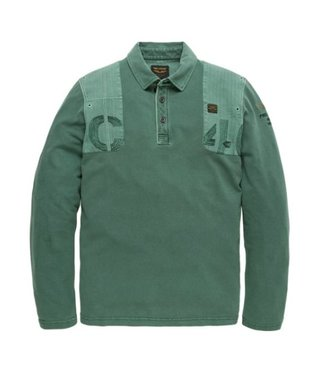 PME Legend Long sleeve polo Rugged Pique Jasper PPS191851
