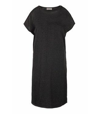 Zusss Fijn gebreid luchtig jurkje zwart 03FJ19v
