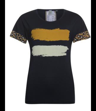 Poools T-shirt paint donkerblauw 913116