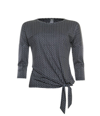 Poools Sweater printed zwart 913159