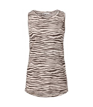 Yaya JERSEY ZEBRA AOP SLEEVELESS TO BLACK DESSIN 1909163-913