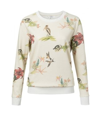 Yaya JERSEY SWEATER WITH WILD ANIMA CHALK DESSIN 1009123-913