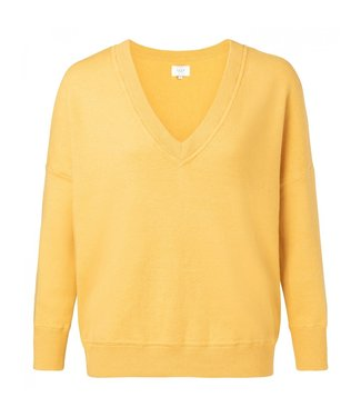 Yaya BOXY VNECK SWEATER MUSTARD YELLOW 100074-913