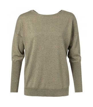 Yaya LUREX SWEATER WITH STRAP SAND 1000118-913