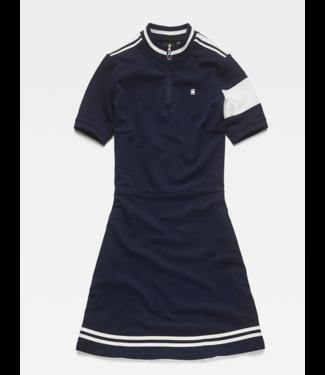 G-Star Cergy zip slim dress wmn s/s donkerblauw D13957-5864-6377