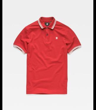 G-Star Dunda slim stripe polo rood D13325-5864-A383