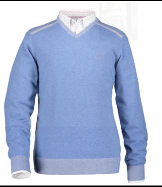 State of Art Pullover V-Neck Plai grijsblauw 12119499