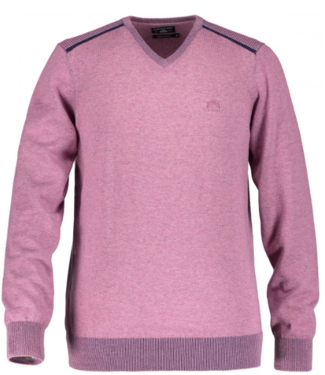 State of Art Pullover V-Neck Plai oud roze 12119499