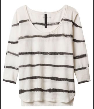 10Days 3/4 sleeve tee tie dye off white 20-770-9101