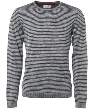 No Excess Pullover, R-Neck, yd stripe, plated white 90210211