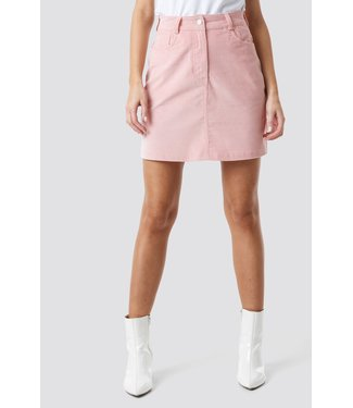 NA-KD Co-ord corduroy mini skirt roze 1018-002507