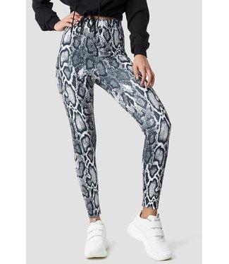 NA-KD Snake print legging grijs 1018-001899