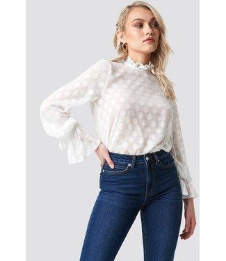 NA-KD Dotted chiffon blouse wit 1615-000002