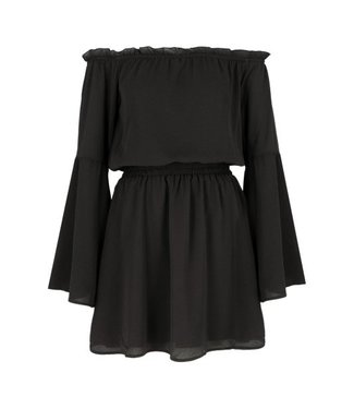 NA-KD Off shoulder dress wide sleeve zwart 1100-000865