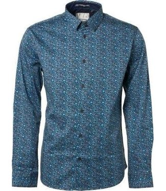No Excess Shirt, l/sl, allover printed stretc Pacific 89431101
