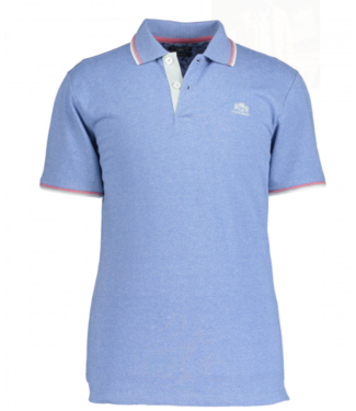 State of Art Poloshirt Single Dye middenblauw 46119287
