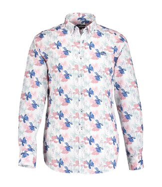 State of Art Shirt LS Printed Pop oud roze 214-19131-4257