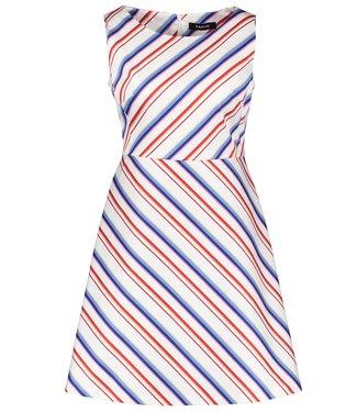 Taifun DRESS WOVEN FABRIC OFF-WHITE PATTERNED 380030-17117