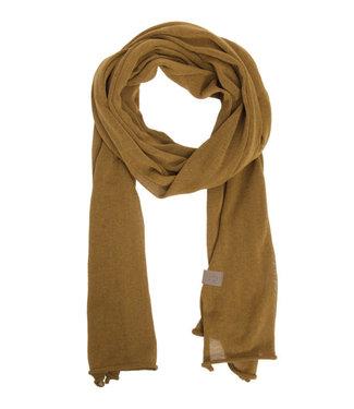 Zusss Fijngebreide lange sjaal geel 03FS19v