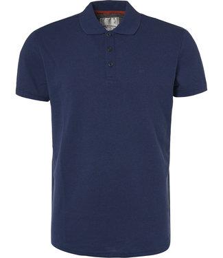 No Excess Polo, S/Sl, garm.dyed 2 coloured ja Indigo Blue 90370217