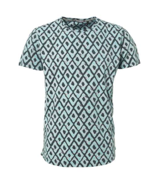 No Excess T-Shirt s/sl, R-neck, AO printed, c Dk Seagreen 90350316