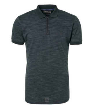 No Excess Polo, S/Sl, half zip, grindle jerse Dk Seagreen 90380352