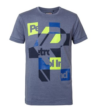 Petrol Industries T-shirt ss r-neck blauw M-SS19-TSR636