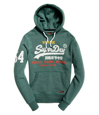 Superdry Sweat shirt store hood groen M20103IT