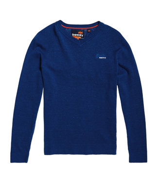 Superdry Orange label cotton vee blauw M61102PT
