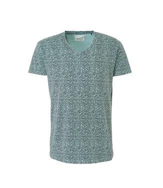 No Excess T-shirt s/sl, V-Neck, AO printed, g clay 90320308