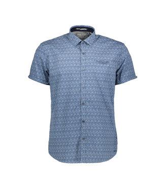 No Excess Shirt, s/sl, allover printed, stret Indigo Blue 90460306
