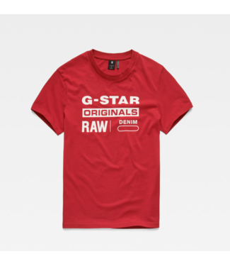 G-Star Graphic 8 r t s/s rood D14143-336