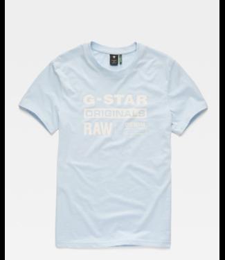 G-Star Graphic 8 r t s/s lichtblauw D14143-336