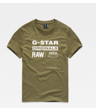 G-Star Graphic 8 r t s/s groen D14143-336