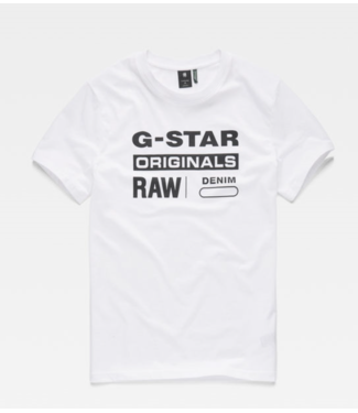 G-Star Graphic 8 r t s/s wit D14143-336