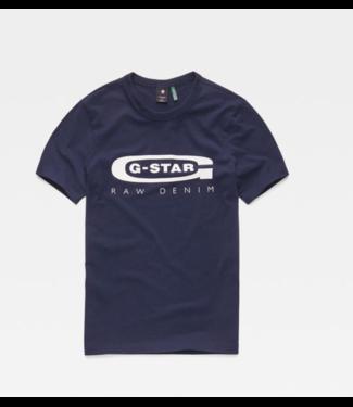 G-Star Graphic logo 4 t-shirt blauw D15104-336-6067