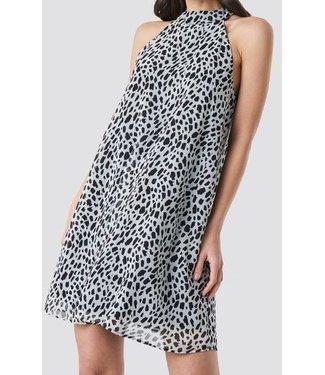 NA-KD Dalmatian halterneck dress wit 1018-002478