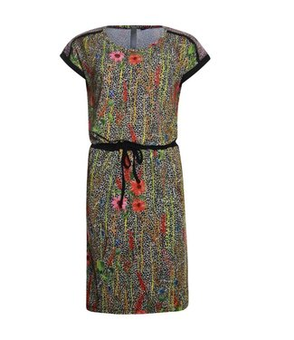 Poools Dress drawstring multicolour 923101