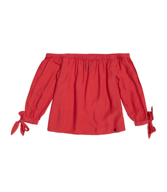 Superdry Helena top rood G60103JT