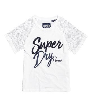 Superdry Madeline graphic tee wit G60155TT