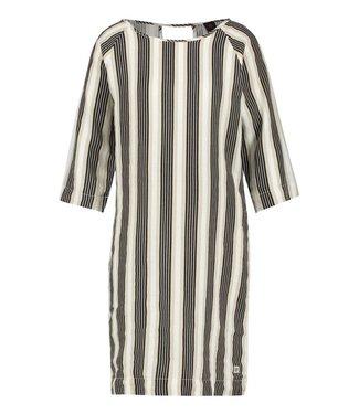 PENN&INK N.Y Dress stripe zwart s19f532