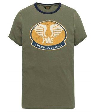 PME Legend Short sleeve r-neck Single Jersey Dusty Olive PTSS193522