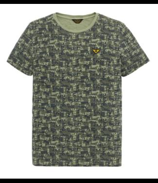 PME Legend Short sleeve r-neck Slub Jersey AO Dusty Olive PTSS193512