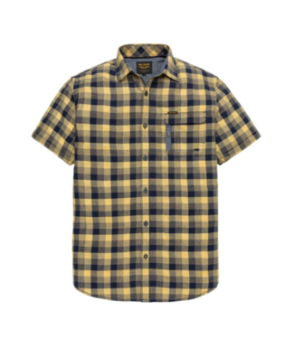 PME Legend Short Sleeve Shirt Melange Check M Mimosa PSIS193236