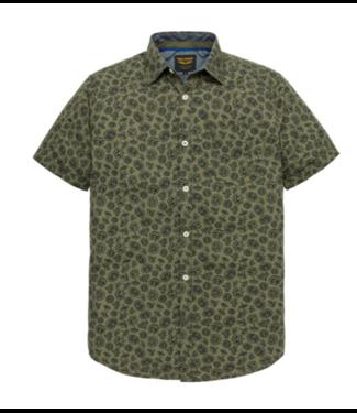 PME Legend Short Sleeve Shirt Poplin Print Et Dusty Olive PSIS193220