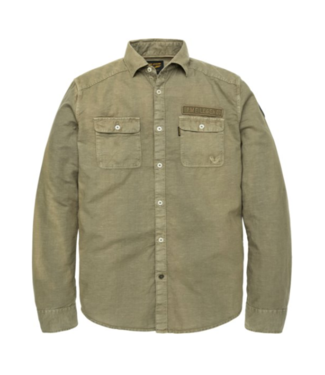 PME Legend Long Sleeve Shirt Linen Cargo Stan Dusty Olive PSI193216