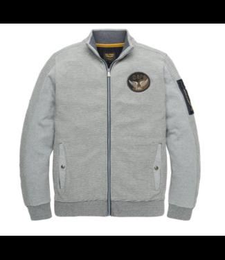 PME Legend Zip jacket Terry Ottoman Grey Melee PSW192402