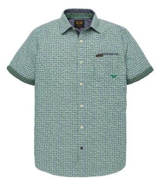 PME Legend Short Sleeve Shirt Check Print Burl Deep Grass Green PSIS192247